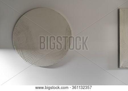 Interior Of Illuminated Modern Flat With White Walls