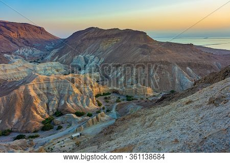 Colorful Desert Sand Of Judean Mountains