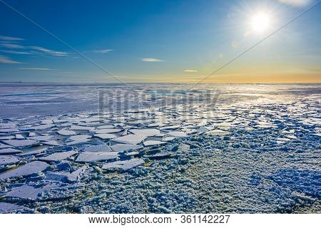 Ice And Snow In The Lapland Country In Arctic Finland, Scandinavia