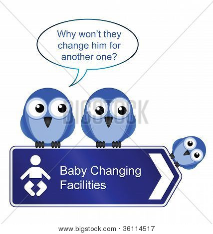 Bird baby changing