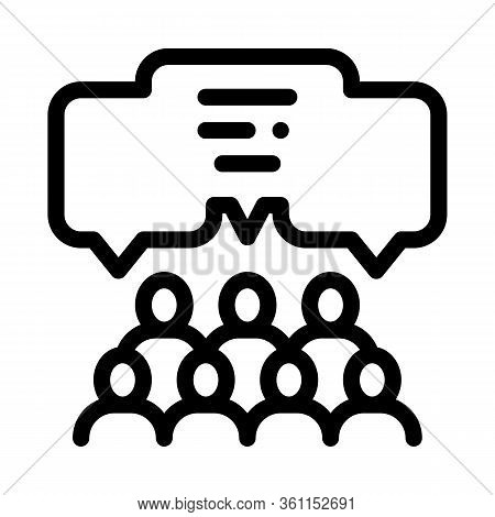 Public Opinion Icon Vector. Public Opinion Sign. Isolated Contour Symbol Illustration
