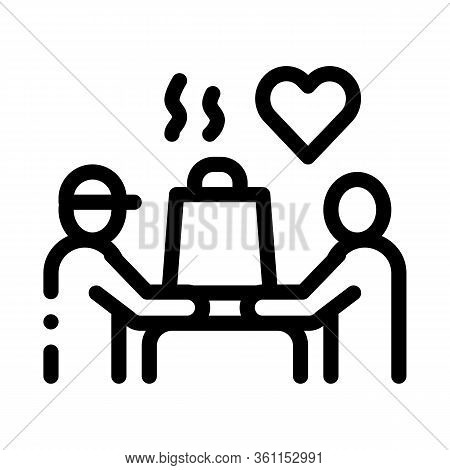 Item To Pick Up Food Icon Vector. Item To Pick Up Food Sign. Isolated Contour Symbol Illustration