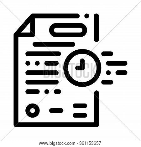 Adjournment Of Trial Date Icon Vector. Adjournment Of Trial Date Sign. Isolated Contour Symbol Illus