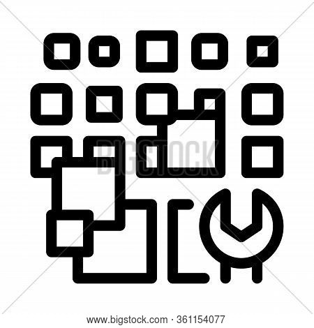 Total Particle Removal Icon Vector. Total Particle Removal Sign. Isolated Contour Symbol Illustratio