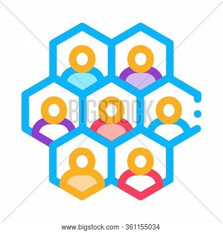 Individuality Of Each Person Icon Vector. Individuality Of Each Person Sign. Color Symbol Illustrati