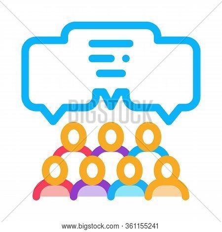 Public Opinion Icon Vector. Public Opinion Sign. Color Symbol Illustration