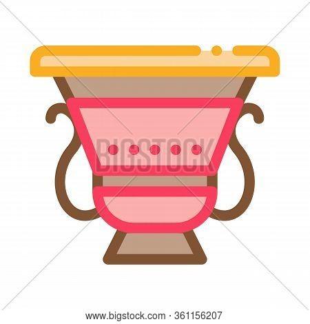 Ancient Greek Feast Bowl Icon Vector. Ancient Greek Feast Bowl Sign. Color Symbol Illustration