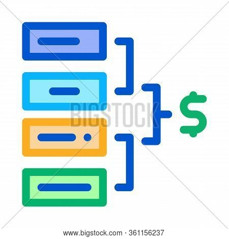 Total Money Icon Vector. Total Money Sign. Color Symbol Illustration