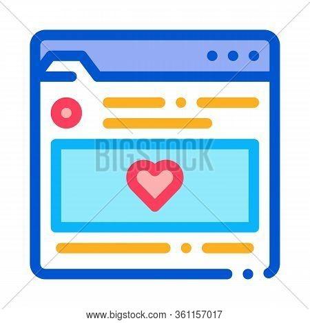 Favorite Info Folder Icon Vector. Favorite Info Folder Sign. Color Symbol Illustration