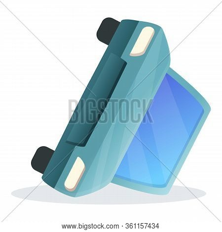 Car Breaking Accident Icon. Cartoon Of Car Breaking Accident Vector Icon For Web Design Isolated On