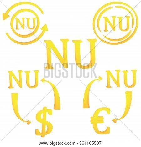 Bhutanese Ngultrum Currency Of Bhutan 3d Symbol Icon Vector Illustration On A White Background