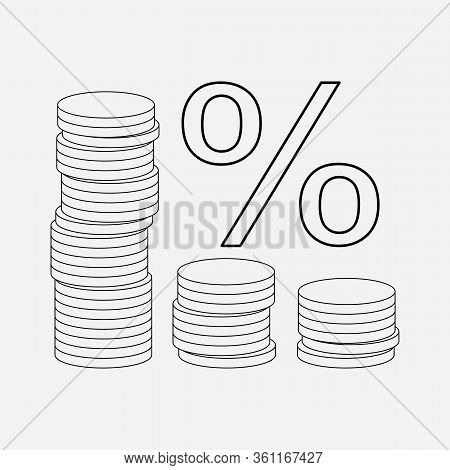 Financial Interest Icon Line Element. Vector Illustration Of Financial Interest Icon Line Isolated O