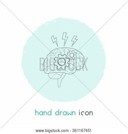 Brainstorming Icon Line Element. Vector Illustration Of Brainstorming Icon Line Isolated On Clean Ba