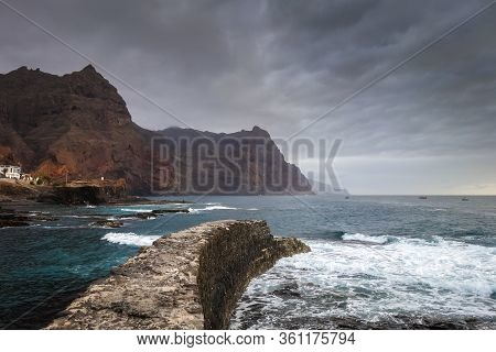 Cliffs And Ocean View In Ponta Do Sol, Santo Antao Island, Cape Verde, Africa