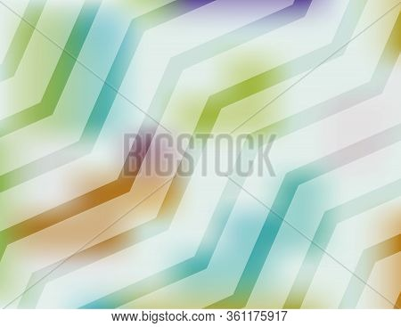An Abstract Colorful Chevron Pattern Of Shapes Background Illustration. Vector Eps 10 Available.