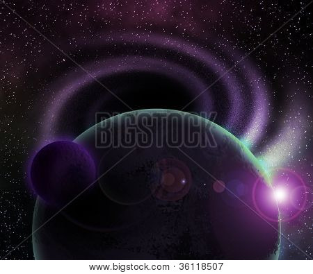 Two Dark Planets Cosmic Background
