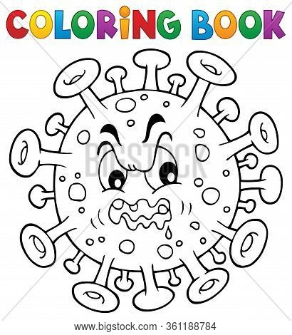 Coloring Book Virus Theme 1 - Eps10 Vector Picture Illustration.