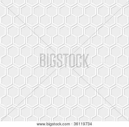 White honeycomb pattern