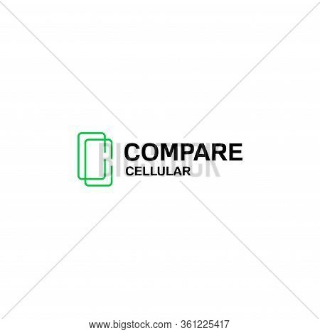 Creative Logo Design Of Letter C And Cellular With White Background - Eps10 - Vector.