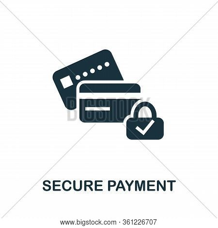 Secure Payment Icon. Simple Illustration From E-commerce Collection. Creative Secure Payment Icon Fo