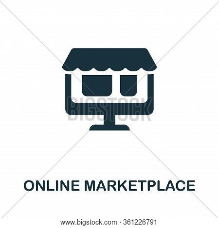 Online Marketplace Icon. Simple Illustration From E-commerce Collection. Creative Online Marketplace