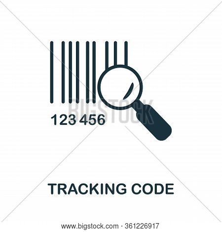 Tracking Code Icon. Simple Illustration From E-commerce Collection. Creative Tracking Code Icon For