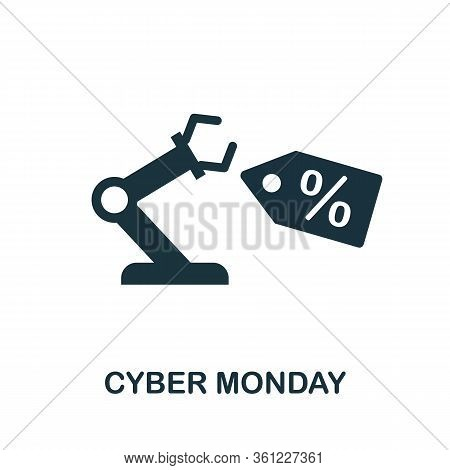Cyber Monday Icon. Simple Illustration From E-commerce Collection. Creative Cyber Monday Icon For We