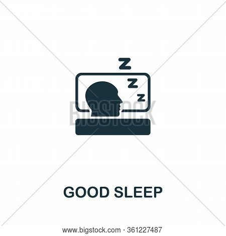 Good Sleep Icon From Personal Productivity Collection. Simple Line Good Sleep Icon For Templates, We