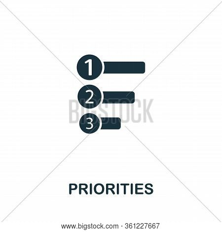 Priorities Icon From Personal Productivity Collection. Simple Line Priorities Icon For Templates, We