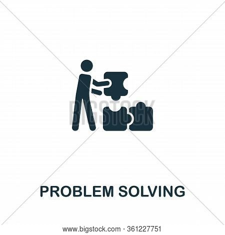 Problem Solving Icon From Personal Productivity Collection. Simple Line Problem Solving Icon For Tem