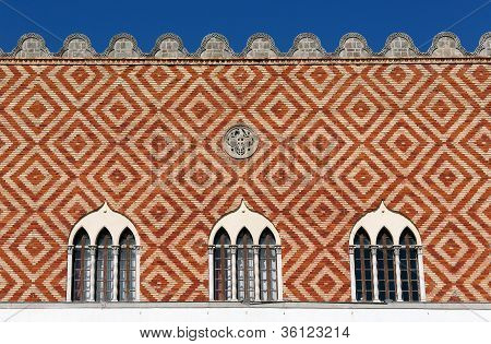 Detail Of The Venetian Governor's Palace In Rhodes, Greece
