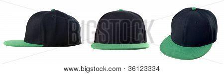 Black And Green Cap