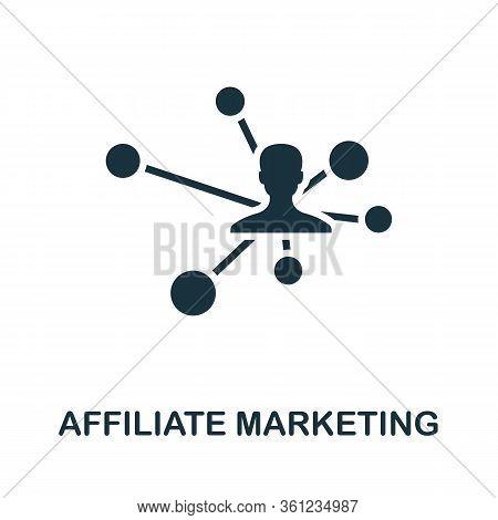 Affiliate Marketing Icon. Simple Creative Element. Filled Affiliate Marketing Icon For Templates, In