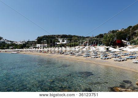 Lindos Beach Early Morning. Rhodes, Greece