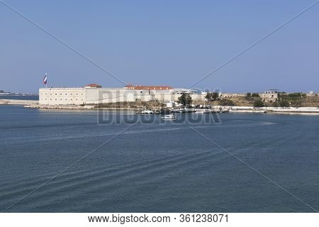 Sevastopol, Crimea, Russia - July 28, 2019: Konstantinovskaya Battery On Navy Day On July 28, 2019 I