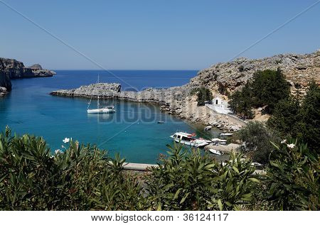 St Paul's Bay, Rhodes, Greece