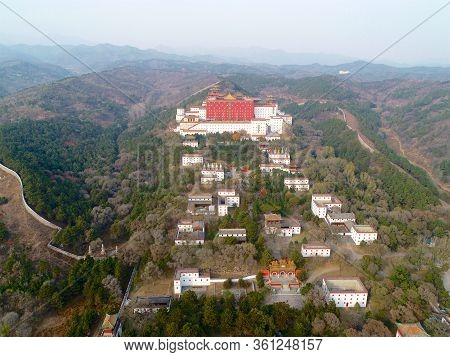 Aerial View Of The Putuo Zongcheng Buddhist Temple, One Of The Eight Outer Temples Of Chengde, Built