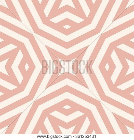 Vector Abstract Seamless Pattern With Geometric Shapes, Stripes, Lines, Stars, Octagons. Simple Text