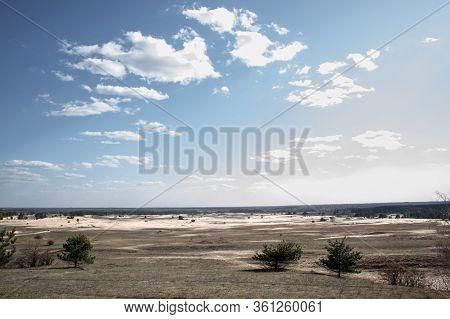 Kharkiv Desert. Desert In The East Of Ukraine. Ukrainian Desert. A Lot Of Sand. Sand Dunes. Desert L