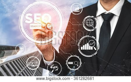Seo Search Engine Optimization Business Concept