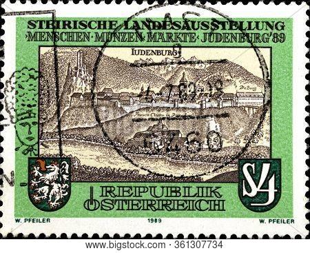 02 10 2020 Divnoe Stavropol Territory Russia Postage Stamp Austria 1989 Styrian National Exhibit Exh