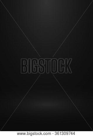 Black Gradient Studio Background. Design Of Backdrop For Presentation You Product. Eps 10.