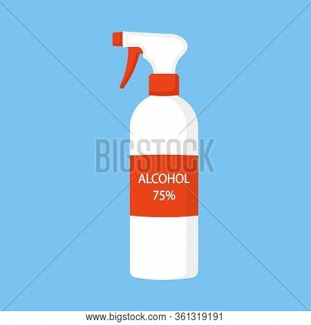 Medical Disinfection, Antiseptic, Ethanol Disinfectant Solution. Sanitizer For Hygiene Home And Pers