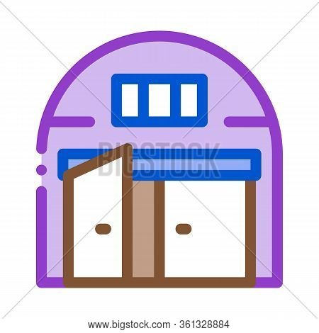 Car Garage Open Icon Vector. Car Garage Open Sign. Color Symbol Illustration