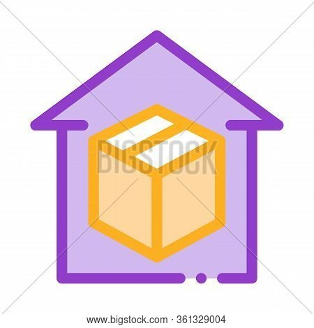 Sending Parcel Icon Vector. Sending Parcel Sign. Color Symbol Illustration