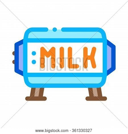 Amount Of Milk In Tank Icon Vector. Amount Of Milk In Tank Sign. Color Symbol Illustration