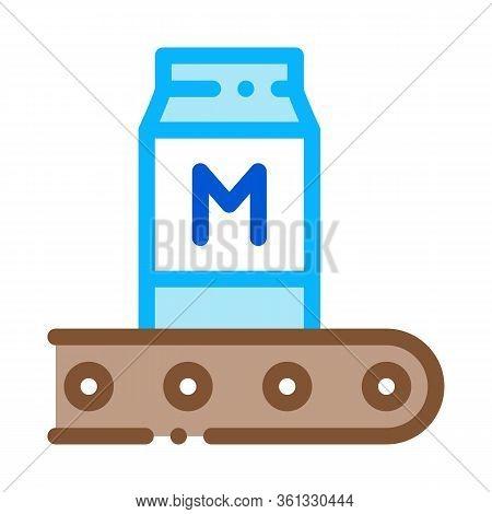 Convector Milk Bottle Icon Vector. Convector Milk Bottle Sign. Color Symbol Illustration