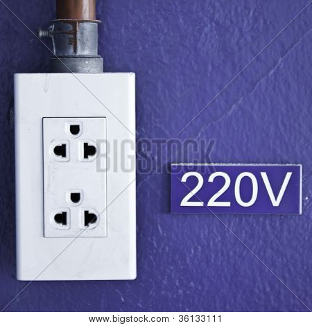 Power Socket 220V Of Factory.