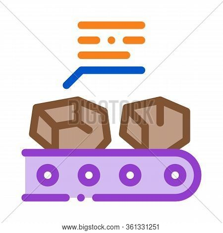 Coal In Stock Icon Vector. Coal In Stock Sign. Color Symbol Illustration