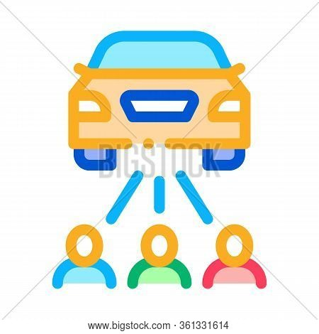 Inspection By People Icon Vector. Inspection By People Sign. Color Symbol Illustration